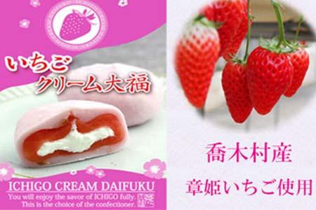 30-A37 ≪喬木村産章姫いちご使用≫いちごクリーム大福 たっぷり25個セット