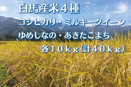 E-01 白馬産米4種40kg