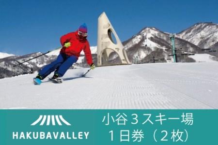 HAKUBA VALLEY OTARI 3スキー場共通リフト1日券(小人)2枚