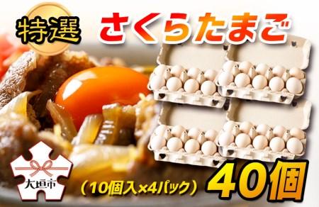 特選 さくらたまご 40個(10個入×4パック)