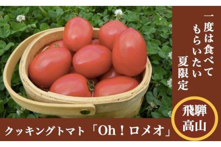 クッキングトマト(調理用)「Oh!ロメオ」1.2kg、8〜10月発送)[飛騨高山産] a501