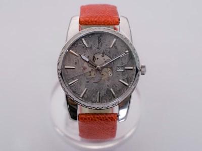 MUSHA Damascus Watch SAMURAI 【orange】 ~ダマスカス鋼 腕時計~ D300-12