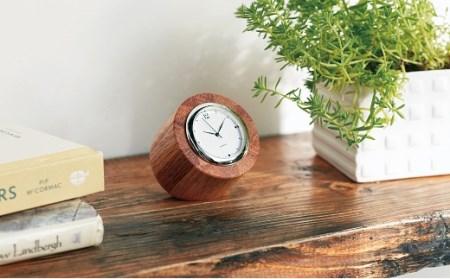 58E007 〈ツバキラボ〉寄木の小さな置き時計