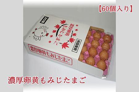 【山田養鶏】濃厚卵黄もみじたまご【60個入り】