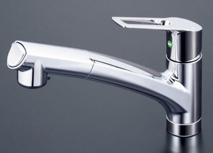 キッチン用シングルレバー式シャワー混合水栓[K0071]