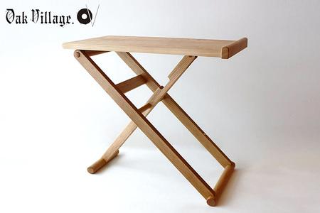 【2638-0028】折りたたみサイドテーブル 【国産材 木製家具】