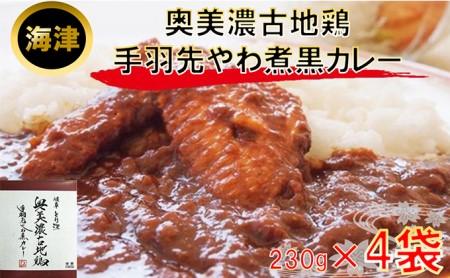 奥美濃古地鶏 手羽先やわ煮カレ−(海津)