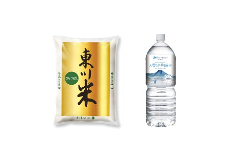 【19000315】【令和元年度新米】東川米「ななつぼし」5kg+水のセット