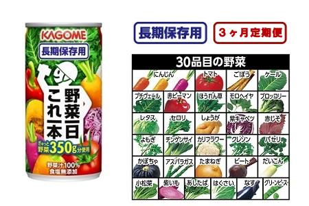 【2600-0205】【3ヶ月定期便】 野菜一日これ一本 長期保存用(30本入)