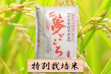 【2600-0039】 特別栽培米 夢ごこち 精米10kg(分搗き可) または 玄米1割増