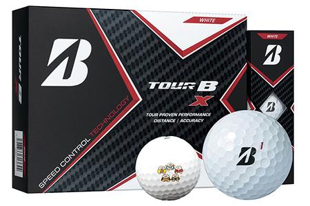 【2607-2160】※ゴルフボール ブリヂストン TOUR B X レッキーマーク(ホワイト)3ダース36球セット