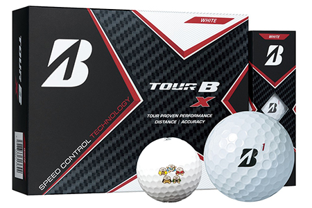 【2607-2161】※ゴルフボール ブリヂストン TOUR B X レッキーマーク(ホワイト)2ダース24球セット