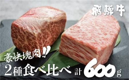 飛騨牛ブロック [塊] 霜降り肉 赤身肉 ブロック肉 300g×2 合計600g BBQ ローストビーフ[S046]