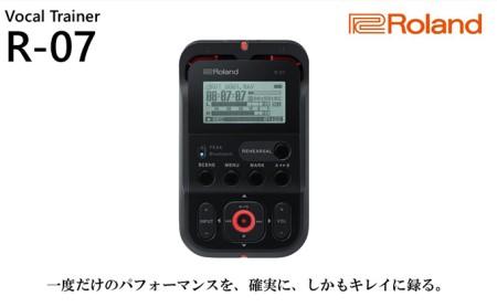 【Roland】ハイレゾレコーダー/R-07黒【配送不可:離島】