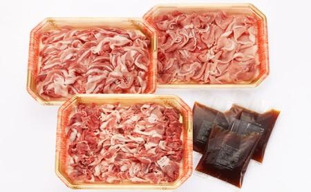 [№5786-1190]みっかび三元豚切り落とし 三ケ日みかん入りポン酢3袋付き