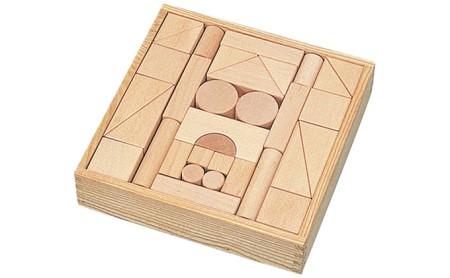 良質なブナ材のつみき56ピース(KAWAI玩具4012)