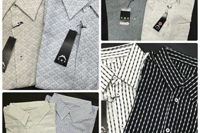 23遠州織物ふじのくにシャツ武襯衣(むしゃ)