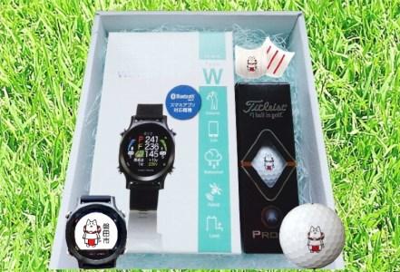 371_しっぺいオリジナル ゴルフギフトBox1(イーグルビジョンwatch ACE+ボール3個)[2020]]