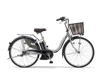 191_電動アシスト自転車(ナチュラM)[2018](24インチ・シルバー)
