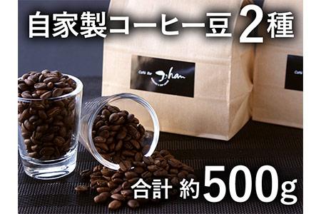 a10-064 自家焙煎コーヒー豆2種 約500g