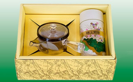 菊川深蒸し茶と透明急須セット