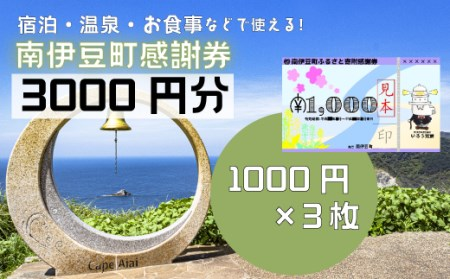 [Za-01]南伊豆町ふるさと寄附感謝券3枚