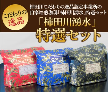 自家焙煎珈琲「柿田川湧水」特選セット