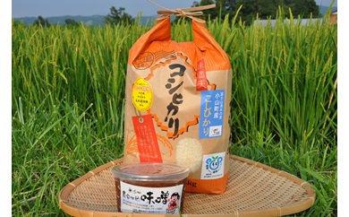 3A-12 古宿ファームのコシヒカリ&自家製味噌セット