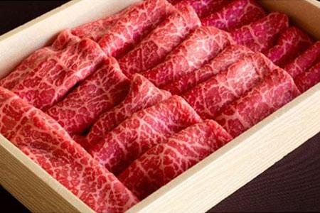 三河牛(黒毛和種)A5等級モモすき焼き用600g 直営巴山牧場産【1200675】