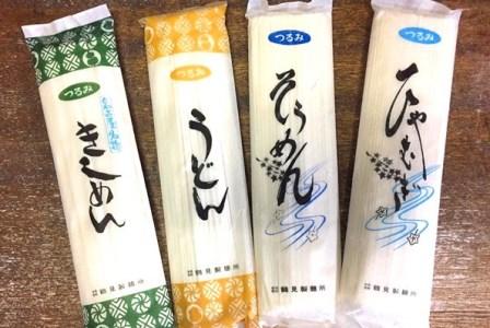 つるみの乾麺4種詰合わせセットA(うどん7入、そうめん7入、きしめん7入、ひやむぎ7入)