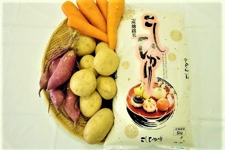 A.碧南産米(5kg)と季節野菜の詰め合わせ