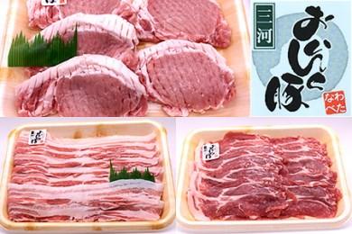 1-23.西尾のこだわり豚肉 「三河おいんく豚」食べ比べセット1.6kg