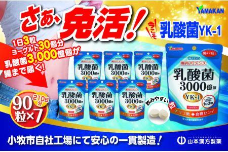 山本漢方の乳酸菌粒(30日分×7袋)[027Y07]