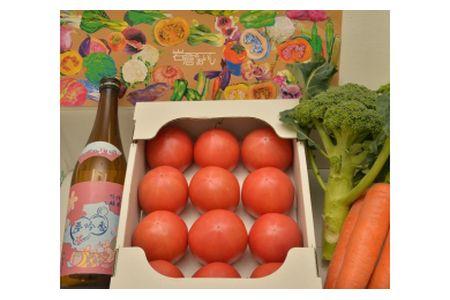 【2619-0005】岩倉の味満喫セットA【夢吟香いわくら1本・水耕栽培トマト・季節の野菜】