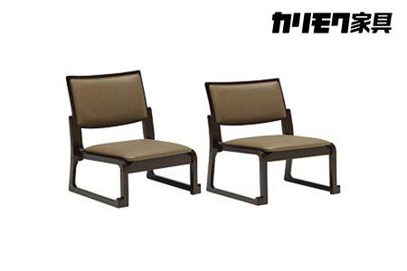カリモク 合成皮革張り 高座椅子/チェア