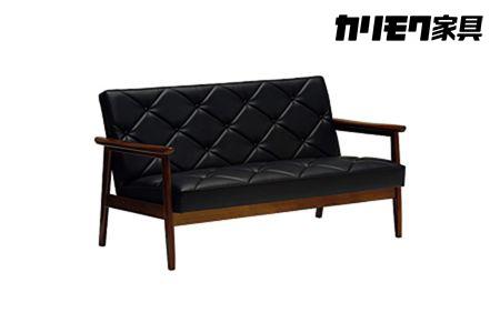 カリモク 合成皮革張り 長椅子ソファ