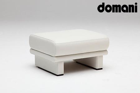 【2629-0136】[カリモク家具:ドマーニ]総本革張りスツールA(総本革張りソファA専用)
