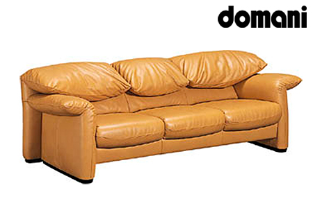 ⇒【2629-0137】[カリモク家具:ドマーニ]総本革張りソファB 3P【ZSA833モデル】ふるなび