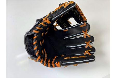 SAEKI 野球グローブ【軟式・ショート用】【ブラック】【親指・バンド部一体型】