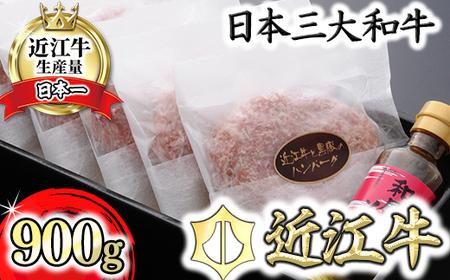 【溢れる肉汁で大人気!】近江牛と黒豚のハンバーグ【900g(150g×6個)】【AF01SM】