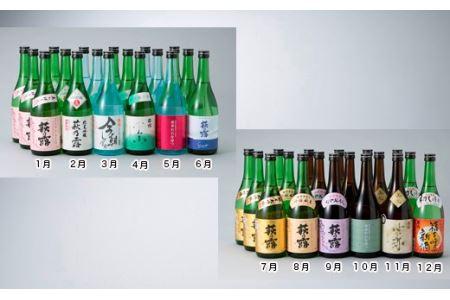 【T-187】福井弥平商店 萩乃露 満喫コースB(頒布会12カ月)