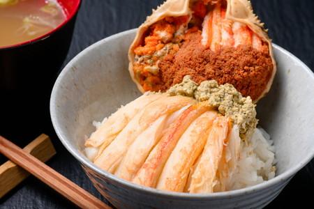 松葉ガニ&セイコガニの甲羅盛り 松葉ガニ夫婦丼(めおとどん)セット 特大サイズ