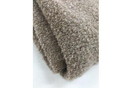 【2628-0229】【限定259枚】タスマニアラム75% シルク25% ブークレ ニット毛布 シングル