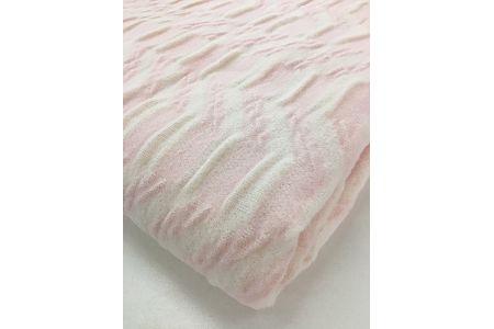 【2628-0345】吸湿発熱 くしゅくしゅ綿毛布(シングル:ピンク)