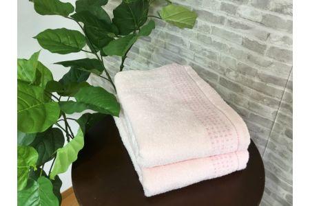 【2628-0559】オーガニックコットン バスタオル 2枚組 ピンク 約60×120cm通常サイズ