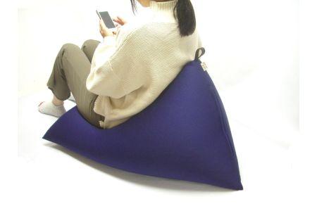 【2628-0594】日本製 三角ビーズソファー DELTA 底面90cm ネイビー