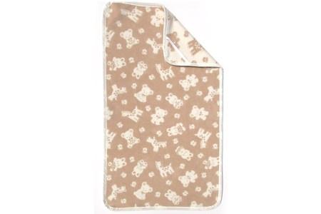【2628-0721】ベビー敷綿毛布(オーガニック綿使用)動物柄