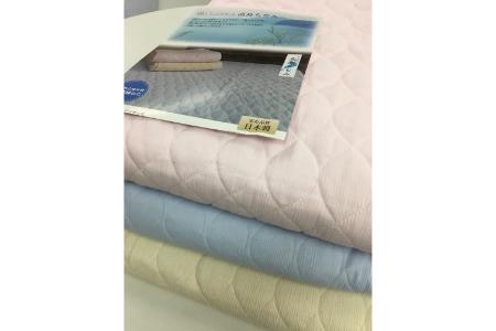 【2628-0742】日本製 綿100% 敷きパッド 高島ちぢみ脱脂綿わた入り シングルサイズ ピンク系
