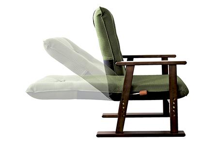 【2628-0870】日本製高座椅子 グリーン