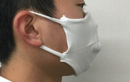 D0044.【日本製】タイツ屋さんこだわりの白いマスク 10枚